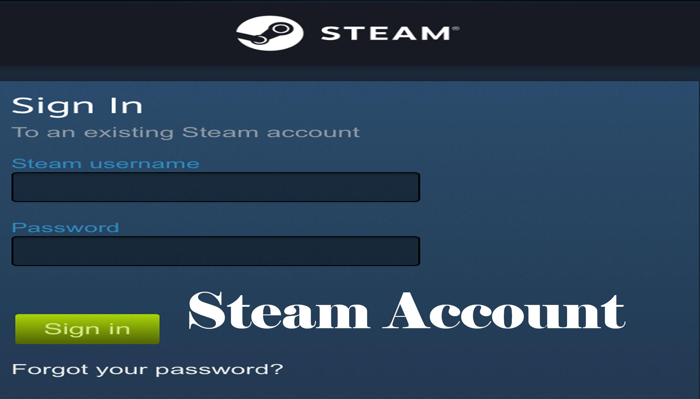 Steam Account - Steam Sign Up | Steam Log In