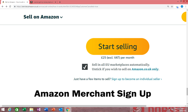 Amazon Merchant Sign Up