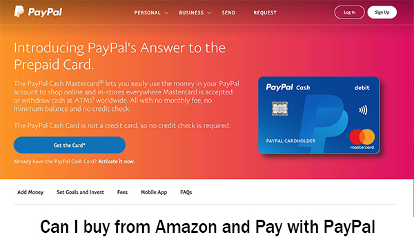 Can I buy from Amazon and Pay with PayPal